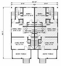 Duplex Floor Plans The Federal Duplex Gmf Architects House Plans Gmf Architects