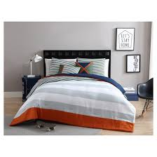 Comforter Orange Orange U0026 Green Collegiate Stripe Reversible Comforter Set Vcny