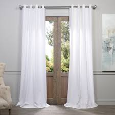 Where To Buy White Curtains Buy White Grommet Heavy Faux Linen Curtains Panel