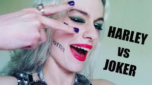 tutorial gambar joker joker suicide squad makeup tutorial