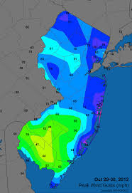 Wind Speed Map Office Of The New Jersey State Climatologist