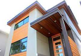 modern narrow house narrow passive house vancouver bc modern exterior