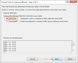 convert the table to a normal range excel convert text to date and number to date