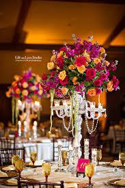 Wedding Chandelier Centerpieces Puja And Deepak Indian Wedding Reception Tpc Sawgrass Suhaag