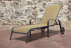 Agio Patio Dining Set - panorama sling chaise lounge get premium relaxation from sears