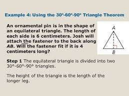 geometry b chapter 8 lesson special right triangles ppt