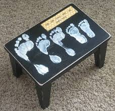 family footprint stool family crafts