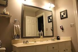 Framing Bathroom Mirrors Diy Diy Frame Bathroom Mirror Akapello