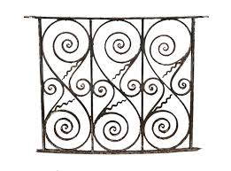 original american ornamental forged wrought iron slightly curved