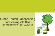 Green Thumb Landscape by Personalized Magnetic Car Signs By 123print