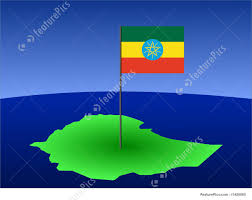 Map Of Ethiopia Illustration Of Map Of Ethiopia With Flag