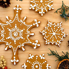 cosmocookie iced gingerbread snowflake cookies and the u s