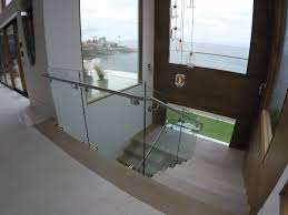 stairway glass railing install la jolla patriot glass and