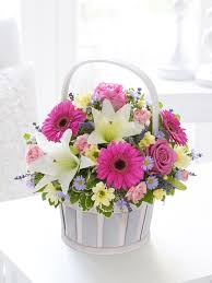 flower baskets and basket arrangement