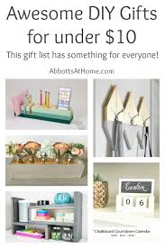 Christmas Gifts Under 10 Best Diy Gifts Of 2017 For Under 10 Abbotts At Home
