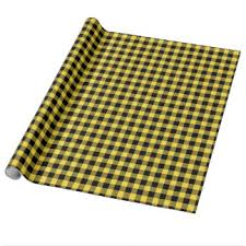 yellow wrapping paper buffalo plaid wrapping paper zazzle