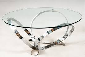 round glass top table with metal base glass top coffee table with shiny metal circle legs coffee tables