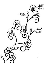 tattoo flower drawings latest flower vine in red flower vines on uncategorized design ideas