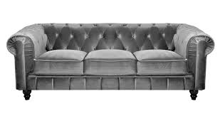 canap chesterfield gris deco in canape 2 places velours chesterfield can avec