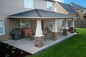 patio ideas backyard porches patios back porch roof design cool