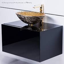Upscale Bathroom Fixtures Luxury Designer Italian Bathroom Fixture Black And Gold Interior