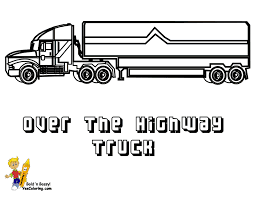 18 wheeler truck coloring pages pictures to pin on pinterest