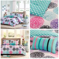 pink and blue girls bedding pink blue black circles girls bedding modern geometric