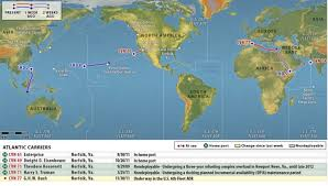Naval Strike Maps Tracking Us Naval Power Us Carrier Strike Groups Locations Map