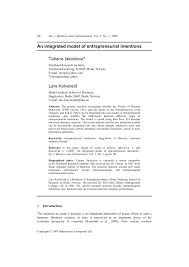 an integrated model of entrepreneurial intentions pdf download