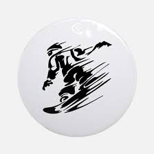 snowboarding ornament cafepress