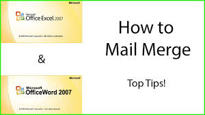 office 2013 mail merge how to mail merge using microsoft excel and word youtube