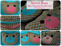 handmade christmas free pattern sweet bear rice heating pad