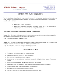 resume objective for housekeeping 28 images effective