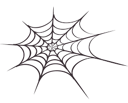 halloween spider clipart black and white instant download halloween clip art spider web line art clipart
