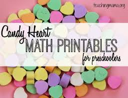 valentines heart candy candy heart math printables