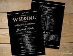 deco wedding program 12 best wedding programs menus images on wedding