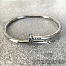 luxury bracelet images Bracelet quot nail luxury strass quot silver gold pink gold detail jpg