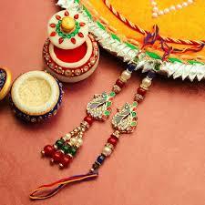 kundan peacock bhaiya bhabhi rakhi rakhi gifts send rakhi to