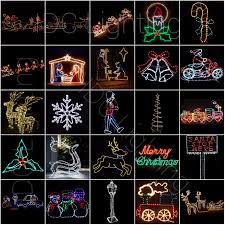 2d led light up rope light silhouette motif lights for