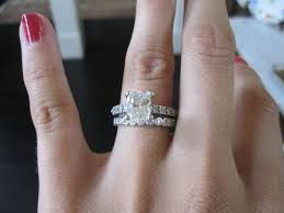 rectangle cushion cut engagement rings cushion cut but not square looking weddingbee