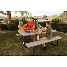 lifetime fold away picnic table lifetime 6 ft folding picnic table