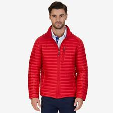 quilted nylon down jacket nautica