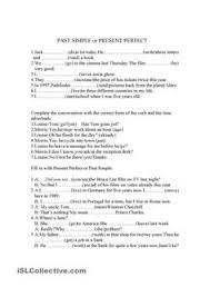 simple present perfect drill present perfect pinterest