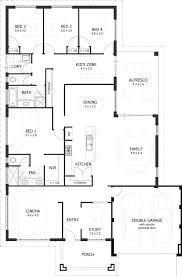 four bedroom house plans one story house plans 4 bedroom stunning pmok me