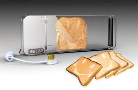 designer toaster put a smile on your toast yanko design