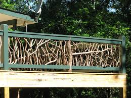 Decking Handrail Ideas Decor U0026 Tips Deck Railing Ideas With Natural Wood Branches And