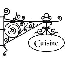 enseigne de cuisine sticker enseigne cuisine deco cuisine destock stickers