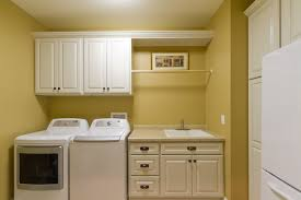 White Laundry Room Wall Cabinets Furniture White Wooden Freestanding Laundry Cabinets 2 White