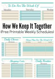 best free printable weekly planner how we keep it together and free weekly planner templates