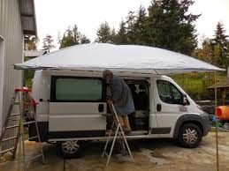 Diy Roof Rack Awning Promaster To Buster The Camper Van